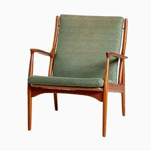 Vintage Danish Teak & Upholstery Armchair by Erik Andersen & Palle Pedersen for Horsnaes Møbler, 1960s
