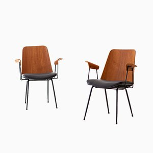 Italian Model DU22 Armchairs by Gastone Rinaldi for Rima, 1950s, Set of 2