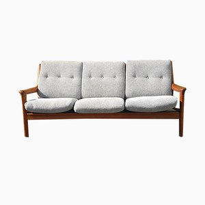 Mid-Century Danish Teak and Wood Sofa, 1960s