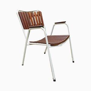 Moderne skandinavische Gartenstühle aus Teak von Daneline, 1970er, 4er Set