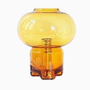 Lámpara de mesa era espacial de vidrio coloreado de Raak, años 70