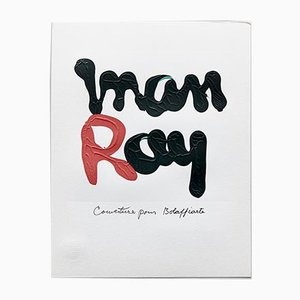 Limitierte Edition Fotolithography R in Schwarz & Rot von Man Ray, 1975