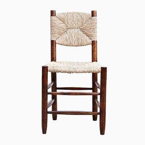 Modell 19 Bauche Stuhl mit Gestell aus Eiche & Sitz aus Rattan von Charlotte Perriand, 1950er