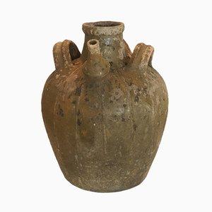Antiker Ölkrug aus Nussholz