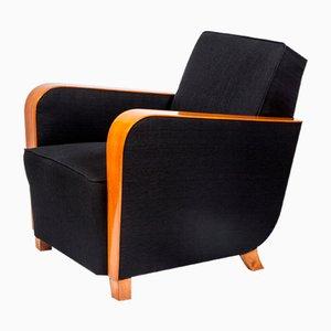 Art Deco Sessel mit Gestell aus Kirschholz, 1930er