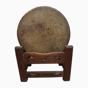 Japanese Wooden Keyaki Drum from Taiko-no-yamakei, 1930s