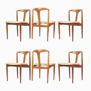 Juliane Esszimmerstühle von Johannes Andersen für Uldum Møbelfabrik, 1960er, 6er Set