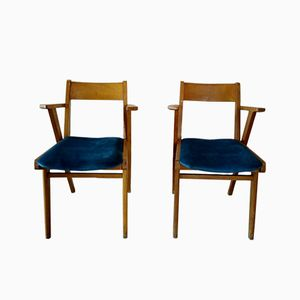 Mid-Century Beech Dining Chairs, 1950s, Set of 2