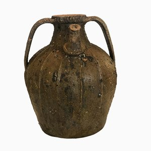 Pichet à Huile Antique en Noyer