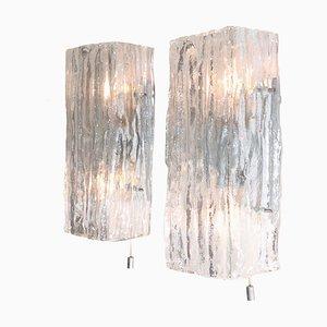 Apliques Fuerstenberg de vidrio de JT Kalmar, años 70. Juego de 2