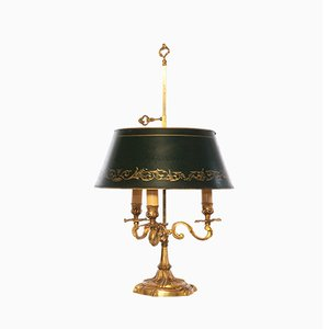 Antique Louis XV Style French Bronze Bouillotte Table Lamp