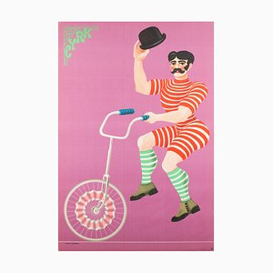 Vintage Polish Circus Poster by Hubert Hilscher, 1970s