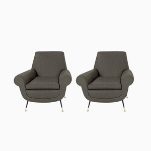 Customizable Italian Armchairs by Gigi Radice for Minotti, 1950s, Set of 2