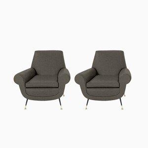 Individualisierbare italienische Sessel von Gigi Radice für Minotti, 1950er, 2er Set