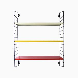 Dutch Metal Tri-Colour Modular Shelving Unit by A. D. Dekker for Tomado, 1950s