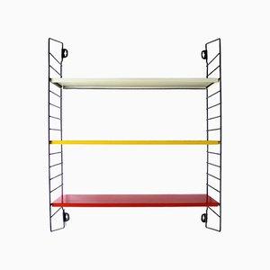 Estantería modular holandesa de metal tricolor de AD Dekker para Tomado, años 50