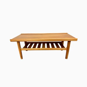 Mid-Century Teak and Wood Coffee Table, 1960s