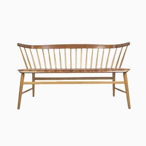 Mid-Century Beech and Teak Sofa by Ebbe Wigell for Bröderna Wigells Stolfabrik AB