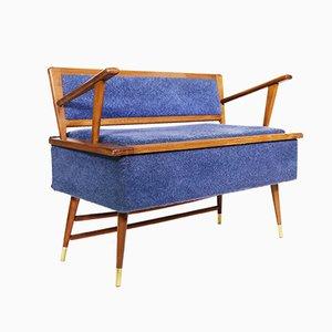 Sofá cama italiano Mid-Century, años 50