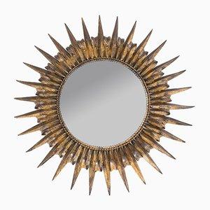 Specchio Mid-Century in metallo, Spagna, anni '50