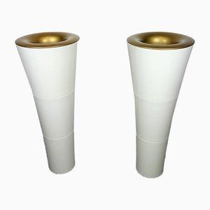 Lámparas Kaoyi vintage en forma de antorcha de ABS, años 80. Juego de 2