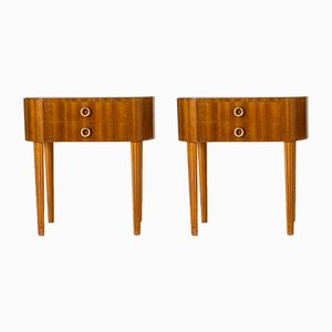 Mid-Century Swedish Nightstands, 1940s, Set of 2