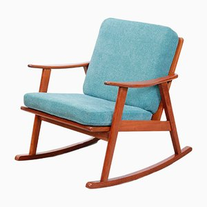 Mid-Century Danish Teak Rocking Chair, 1960s