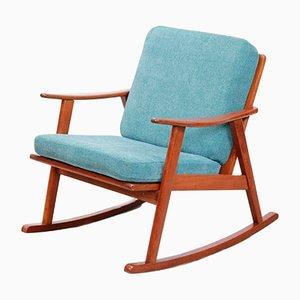 Mid-Century Danish Teak Rocking Chair, 1960s