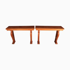 Art Deco French Console Tables, 1930s, Set of 2