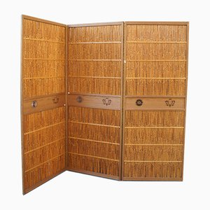 Vintage Japanese Yoshizu Reed Partition, 1930s