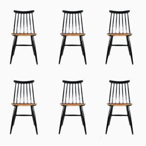 Scandinavian Modern Beech and Teak Dining Chairs from AB Edsbyverken, 1960s, Set of 6