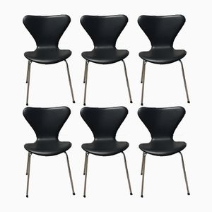 Model AJ 3107 Dining Chairs by Arne Jacobsen, 1983, Set of 6