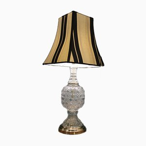 Brass and Crystal Table Lamps, 1944, Set of 2