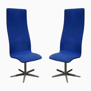 Vintage Stühle von Arne Jacobsen für Fritz Hansen, 1960er, 2er Set
