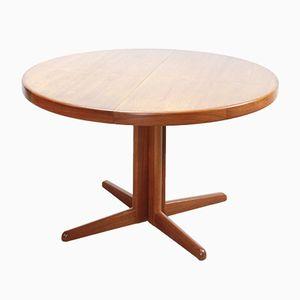 Tavolo da pranzo vintage in teak e legno impiallacciato di Niels Otto Møller per Gudme, Danimarca, anni '60