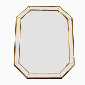 Französischer Mid-Century Spiegel mit goldenem Holzrahmen, 1950er