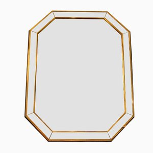 Mid-Century French Mirror with Golden Wood Frame, 1950s