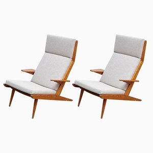High Back Lounge Chairs by Koene Oberman, 1960s, Set of 2