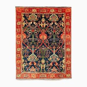 Alfombra turca estilo Arts & Crafts grande tejida a mano, años 80