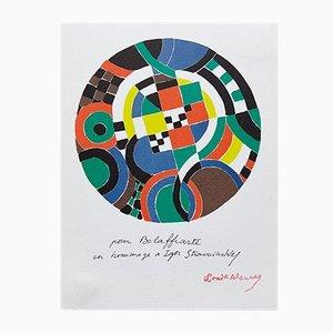 Fotolitografía con abstracción geométrica de Sonia Delaunay, 1979