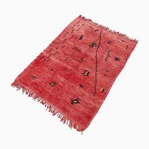 Alfombra marroquí de lana anudada a mano, años 70