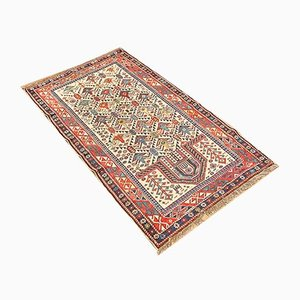 Antique Turkmenistani Hand-Knotted Wool Rug, 1880s