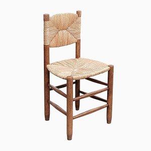 Mid-Century Modell 19 Bauche Stühle aus Eiche & Rattangeflecht von Charlotte Perriand, 1950er, 4er Set