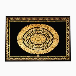 Black Gold Rug by Gianni Versace for Versace, 1980s