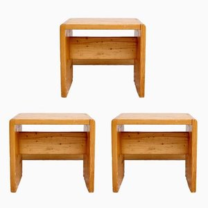 Vintage Hocker von Charlotte Perriand, 3er Set