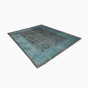 Großer blauer pakistanischer Teppich, 2000er