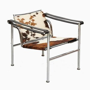 LC1 Pony Skin Lounge Chair by Le Corbusier, P. Jeanneret, & C. Perriand, 1970s