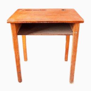 Mesa infantil francesa minimalista Mid-Century de madera, años 50