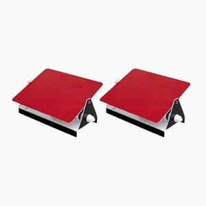 Rote CP-1 Wandlampen von Charlotte Perriand, 1960er, 2er Set