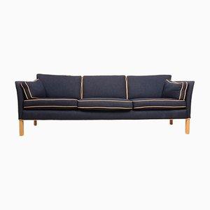 Sofa aus Buche, Stoff & Leder von Arne Norell für Arne Norell AB, 1980er